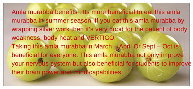 Amla murabba benefits