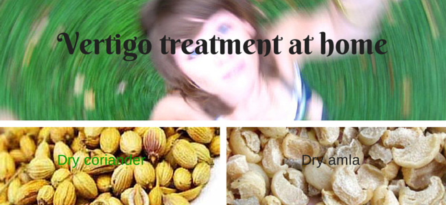 Dizziness and vertigo treatment at home
