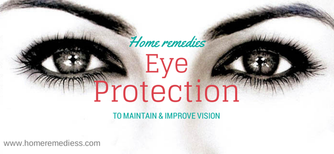 natural cure for Protection of eyes