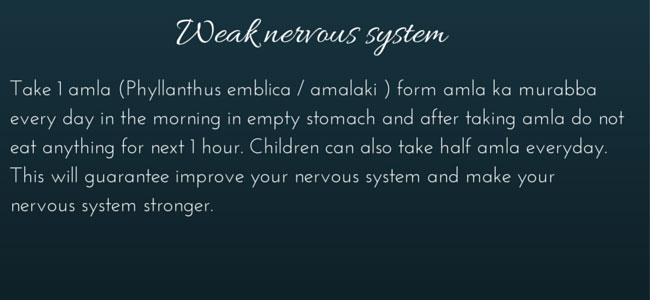 Weak nervous system home remedies