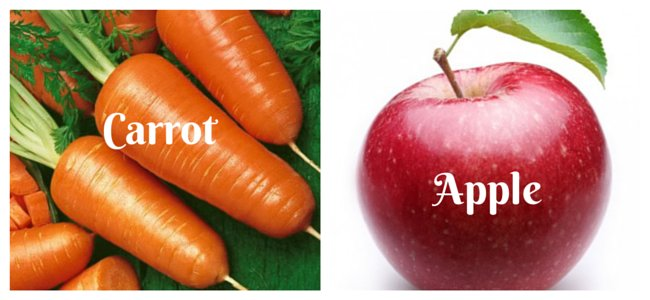 Find Home remedy for women to enhance beauty & power with natural food apple and carrot.