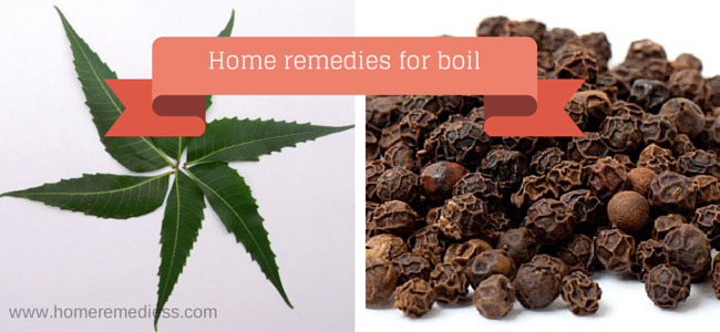 Home treatment for boils