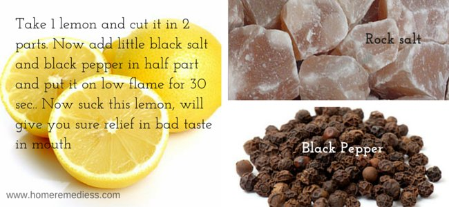 Natural treatment for bad taste in mouth
