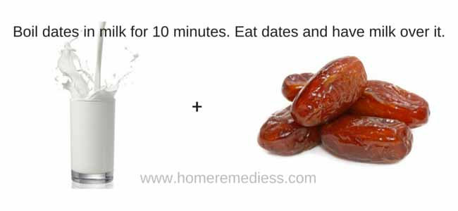 Home remedies for cold using dates and milk