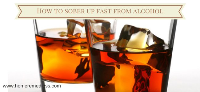 How to sober up from alcohol