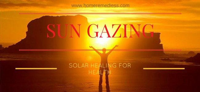 Sun gazing and solar healing for health