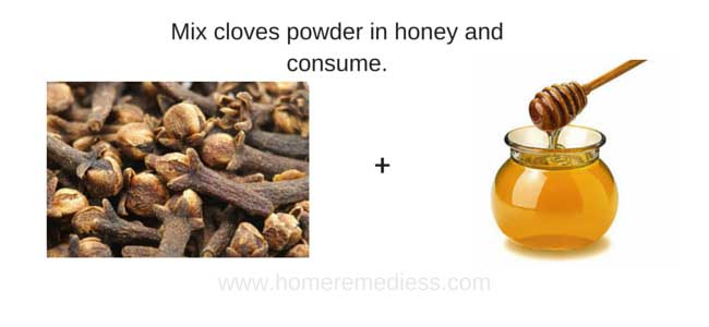 Home remedies for vomiting in pregnancy using clove and honey